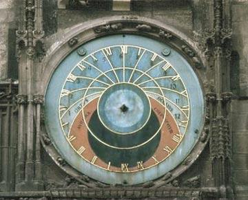 Астрономический циферблат Пражского Орлоя. Основной неподвижный циферблат